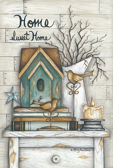 Mary Ann June MARY476 - Home Sweet Home - Home, Signs, Birdhouse, Candle from Penny Lane Publishing