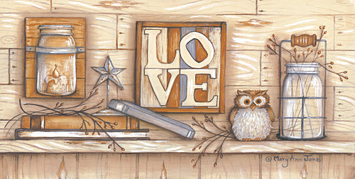 Mary Ann June MARY487 - Love - Wood, Owl, Barn Star, Nature, Sign, Still Life from Penny Lane Publishing