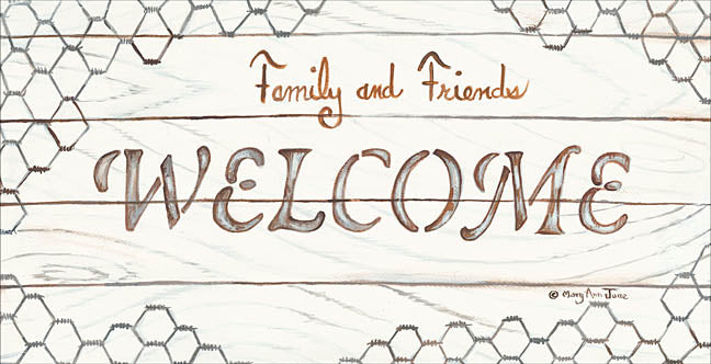 Mary Ann June MARY495 - Chicken Wire Welcome - Chicken Wire, Welcome, Signs from Penny Lane Publishing