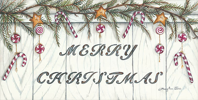 Mary Ann June MARY501 - Candy Cane Christmas - Holiday, Pine, Candy Canes, Signs, Barn Star from Penny Lane Publishing