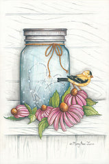 MARY537 - Goldfinch and Flowers - 12x18