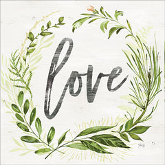 MAZ5487 - Love Greenery Wreath  - 12x12