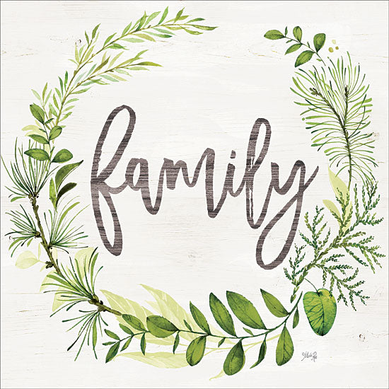Marla Rae MAZ5488 - MAZ5488 - Family Greenery Wreath  - 12x12 Signs, Typography, Wreath, Family from Penny Lane