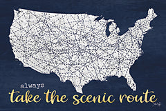 MAZ5626 - Scenic Route USA Map - 18x12