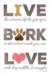 MAZ5670 - Live, Bark, Love - 12x18