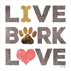 MAZ5671 - Live, Bark, Love - 12x12
