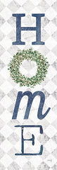 MAZ5696A - Home with Eucalyptus Wreath II - 12x36