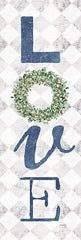 MAZ5697A - Love with Eucalyptus Wreath II - 12x36