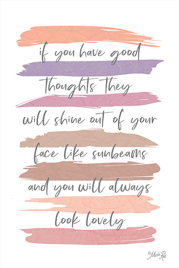 Marla Rae MAZ5739 - MAZ5739 - Good Thoughts - 12x18 Good Thoughts, Motivational, Tween, Signs from Penny Lane