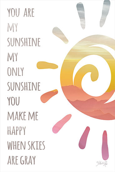Marla Rae MAZ5747 - MAZ5747 - You Are My Sunshine - 12x18 You are My Sunshine, Motivational, Tween, Signs, Music from Penny Lane