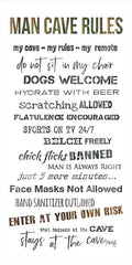 MAZ5750 - Man Cave Rules I - 12x24
