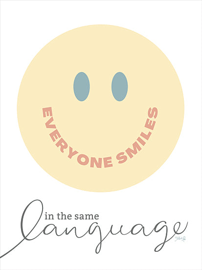 Marla Rae MAZ5774 - MAZ5774 - Everyone Smiles - 12x16 Everyone Smiles, Smiles in the Same Language, Smiles, Smiley Face, Be Happy, Signs from Penny Lane
