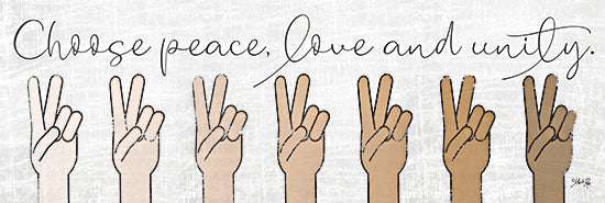 Marla Rae MAZ5778A - MAZ5778A - Choose Peace, Love and Unity - 36x12 Choose Peace, Love and Unity, Hands, Race, Peace Sign, Unity, Signs, Tween from Penny Lane