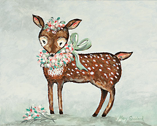 Mary Goddard MG130 - MG130 - Deerly - 16x12 Deer, Baby, Fawn, Flowers, Whimsical from Penny Lane