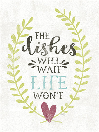 Misty Michelle MMD103 - The Dishes Will Wait - Kitchen, Dishes, Heart from Penny Lane Publishing