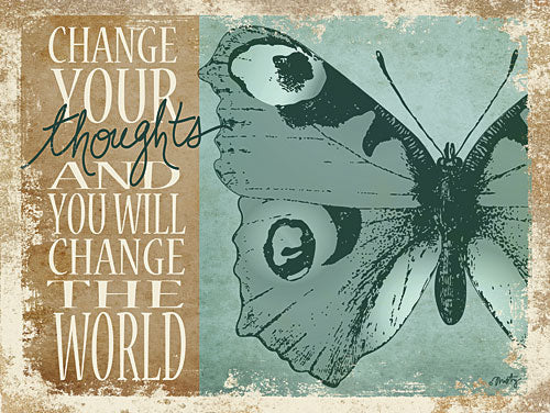 Misty Michelle MMD182 - Change Your Thoughts - Butterfly, Inspirational, Signs from Penny Lane Publishing