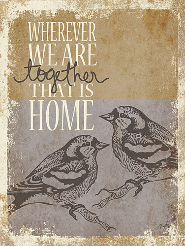 Misty Michelle MMD184 - Together is Home - Birds, Home, Inspirational, Signs from Penny Lane Publishing