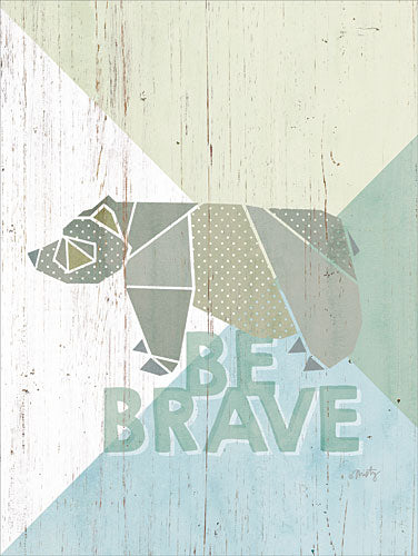 Misty Michelle MMD213 - Be Brave Bear - Bear, Origami, Signs from Penny Lane Publishing