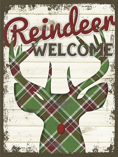 Misty Michelle MMD225 - Reindeer Welcome - Welcome, Reindeer, Holiday, Plaid from Penny Lane Publishing