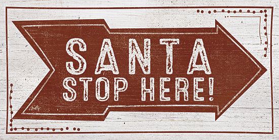 Misty Michelle MMD229 - Santa Stop Here! - Typography, Santa, Holiday, Signs, Arrow from Penny Lane Publishing