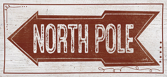 Misty Michelle MMD230 - North Pole - Typography, Holiday, North Pole, Signs, Arrow from Penny Lane Publishing