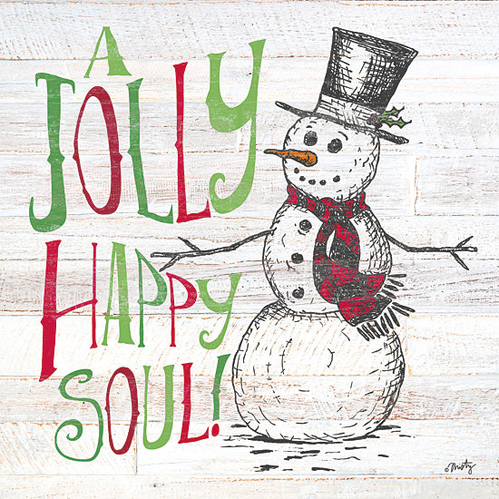 Misty Michelle MMD232 - A Jolly Happy Soul - Typography, Snowman, Winter, Holiday from Penny Lane Publishing