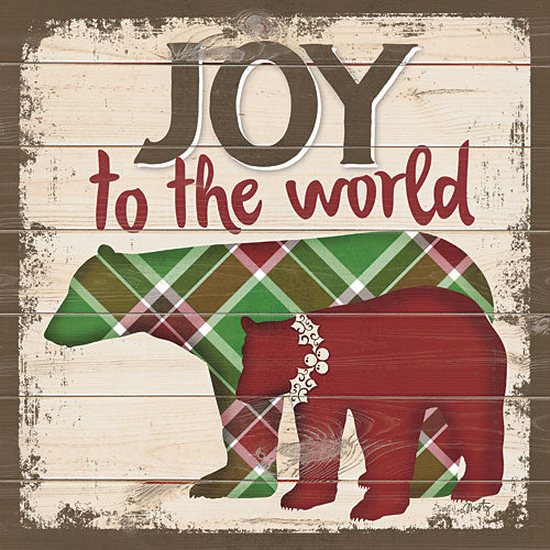 Misty Michelle MMD251 - Joy to the World Bears - Bear, Holiday, Signs, Plaid from Penny Lane Publishing