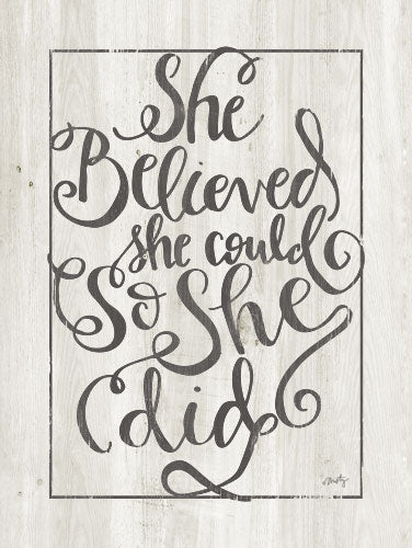 Misty Michelle MMD262 - She Believed - Typography, Signs, Tween from Penny Lane Publishing