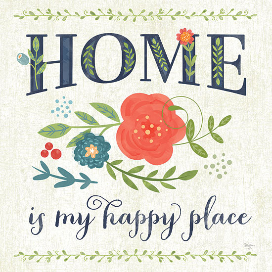 Mollie B. MOL1157 - Happy Home - Home, Flowers from Penny Lane Publishing