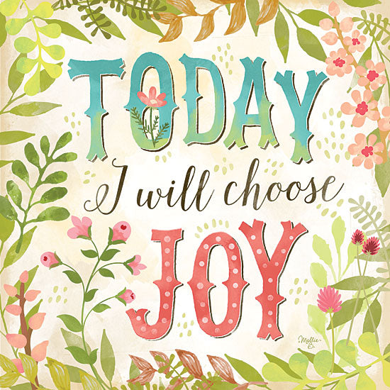Mollie B. MOL1273A - Today I Will Choose Joy - Today, Joy, Greenery, Flowers from Penny Lane Publishing