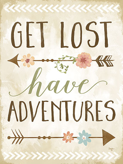 Mollie B. MOL1463 - Get Lost, Have Adventures - Adventures, Arrows, Flowers, Inspirational from Penny Lane Publishing