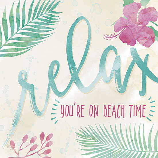 Mollie B. MOL1476 - Relax-You're on Beach Time - Relax, Tropical, Palms, Flowers from Penny Lane Publishing