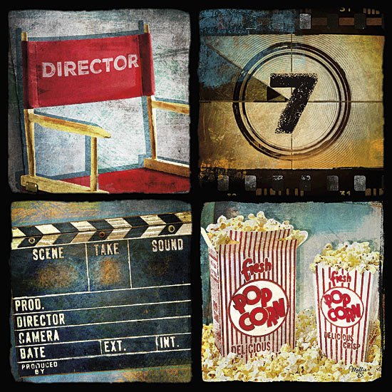 Mollie B. MOL1542 - At the Movies II - Movies, Collage, Popcorn from Penny Lane Publishing