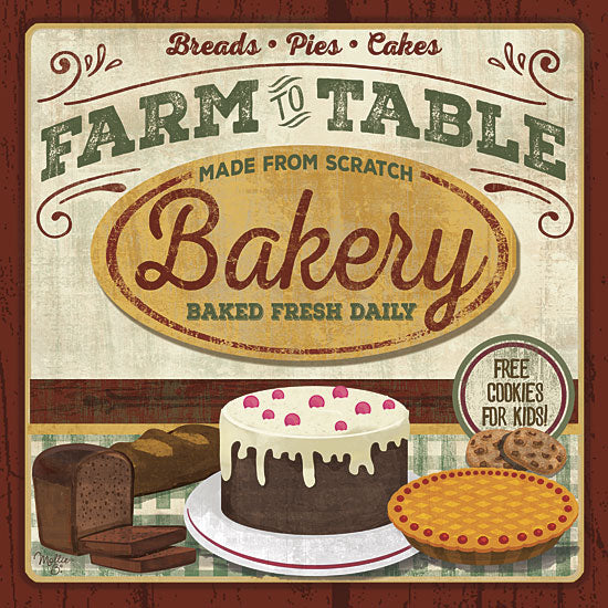 Mollie B. MOL1563 - Farm to Table Bakery - Bakery, Kitchen, Cake, Pies, Farm, Signs from Penny Lane Publishing