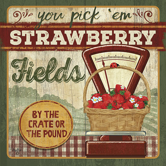 Mollie B. MOL1565 - You Pick 'Em Strawberries - Strawberry, Farm, Basket, Scale, Signs from Penny Lane Publishing