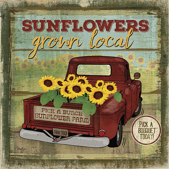 Mollie B. MOL1568 - Sunflowers from the Farm - Sunflowers, Signs, Farm, Truck from Penny Lane Publishing