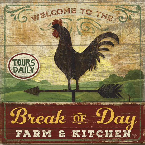 Mollie B. MOL1570 - Break of Day Rooster - Rooster, Farm, Kitchen, Signs from Penny Lane Publishing