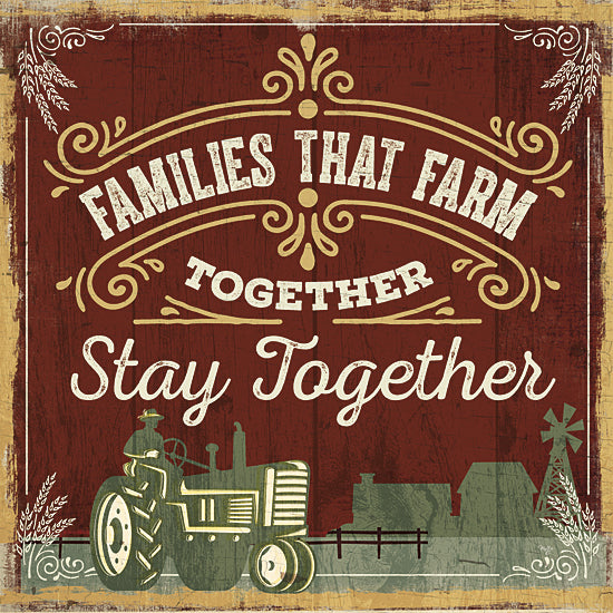 Mollie B. MOL1582 - Families that Farm Together - Tractor, Family, Farm, Signs, Inspirational from Penny Lane Publishing