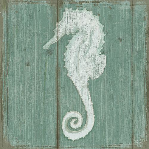 Mollie B. MOL1642 - Seahorse - Also available on Canvas and Wood Products. Seahorse, Aquatic, Animals, Coastal from Penny Lane Publishing