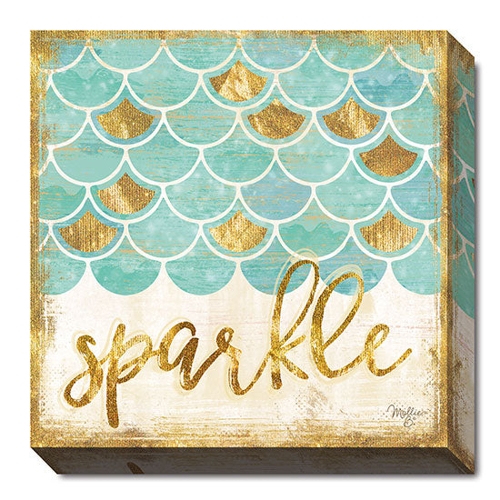 Mollie B. MOL1660 - Sparkle - Mermaid, Bath, Signs, Coastal, Whimsical from Penny Lane Publishing