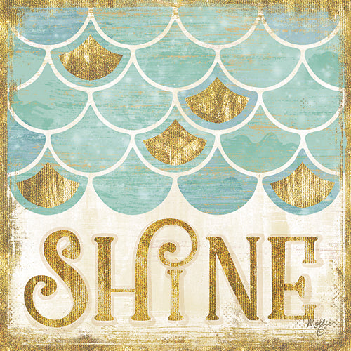 Mollie B. MOL1661 - Shine - Mermaid, Bath, Signs, Coastal, Whimsical from Penny Lane Publishing