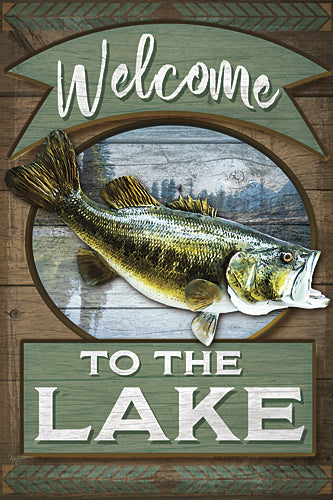 Mollie B. MOL1721 - Welcome to the Lake - Welcome, Lake, Bass, Fish from Penny Lane Publishing