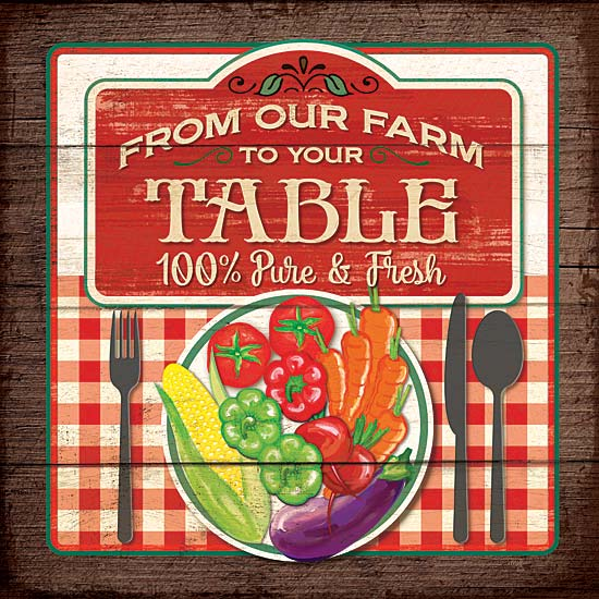 Mollie B. MOL1738 - From Our Table - Signs, Farm, Kitchen, Vegetables,  from Penny Lane Publishing