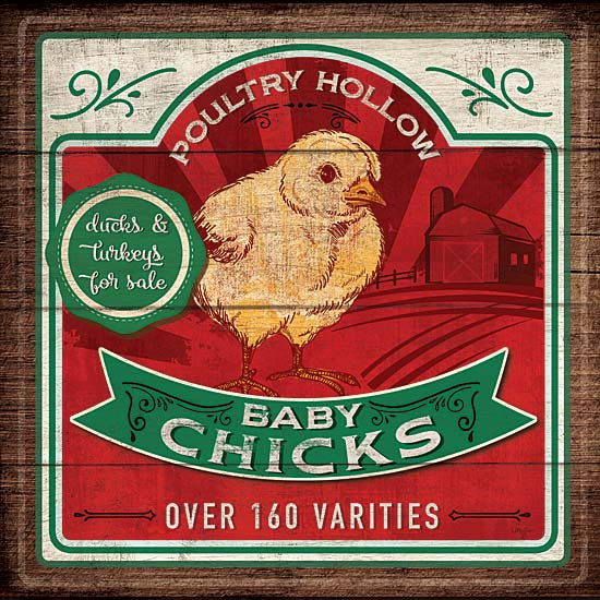 Mollie B. MOL1739 - Baby Chicks - Chick, Farm, Signs from Penny Lane Publishing