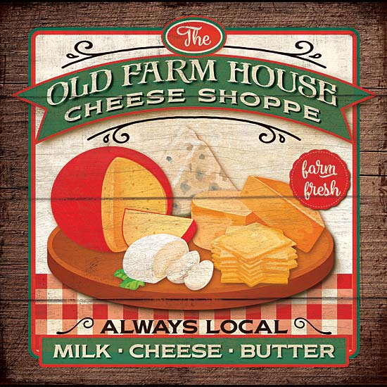 Mollie B. MOL1740 - Old Farmhouse Cheese Shoppe - Farm, Cheese, Shop, Signs from Penny Lane Publishing