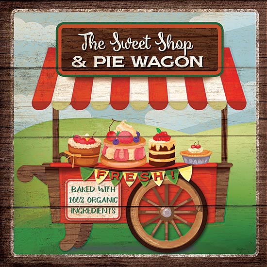 Mollie B. MOL1741 - The Sweet Shop & Pie Wagon - Pie Wagon, Food, Signs from Penny Lane Publishing