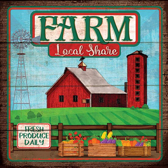 Mollie B. MOL1742 - Farm Loyal Shares - Farm, Barn, Silo, Windmill, Fruits, Vegetables from Penny Lane Publishing
