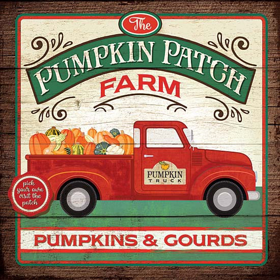 Mollie B. MOL1745 - The Pumpkin Patch Farm - Pumpkin, Truck, Gourds, Signs, Farm from Penny Lane Publishing