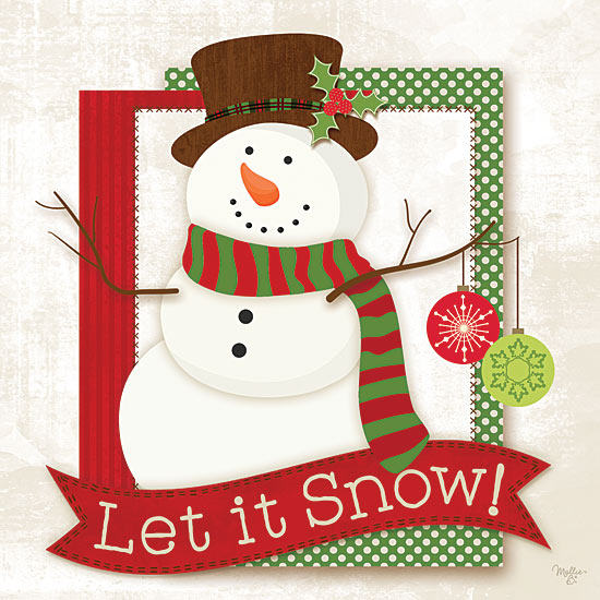 Mollie B. MOL1757 - Let It Snow - Snowman, Ornaments, Signs, Holiday from Penny Lane Publishing