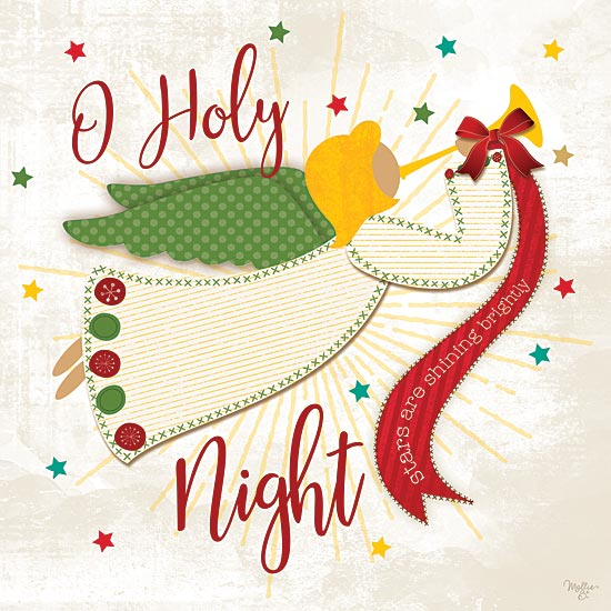Mollie B. MOL159 - O Holy Night - Angel, Holiday, Ribbon from Penny Lane Publishing